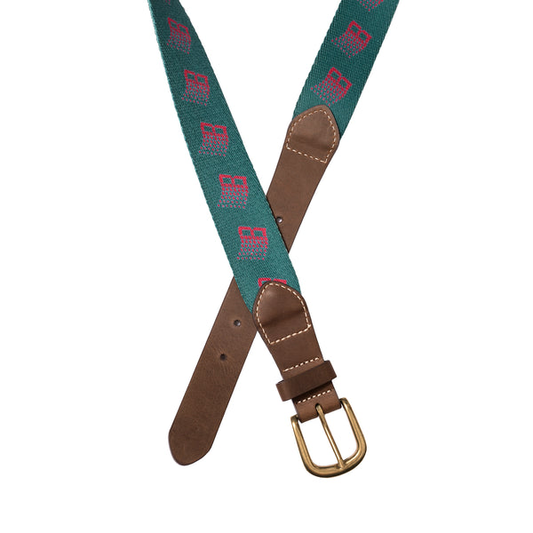B LOGO BELT GREEN