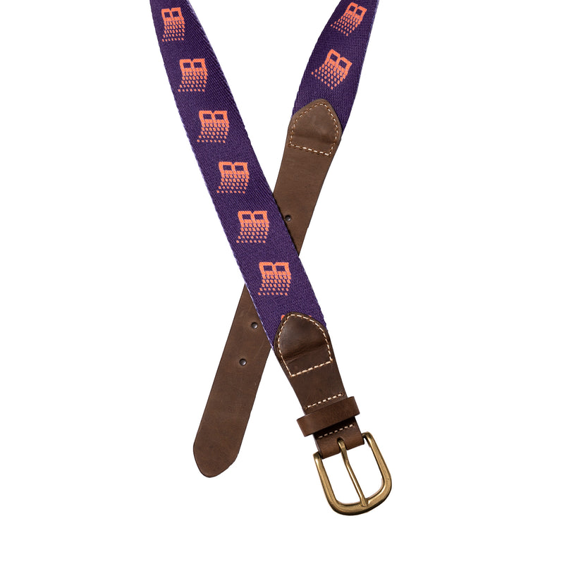 B LOGO BELT PURPLE