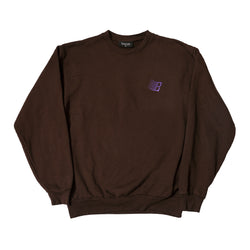 EMBROIDERED B LOGO CREWNECK CHOCOLATE