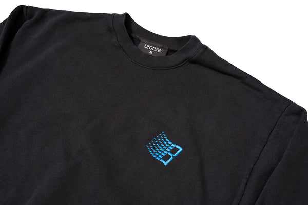 EMBROIDERED B LOGO CREWNECK OFF BLACK