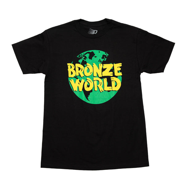 BRONZE WORLD TEE BLACK