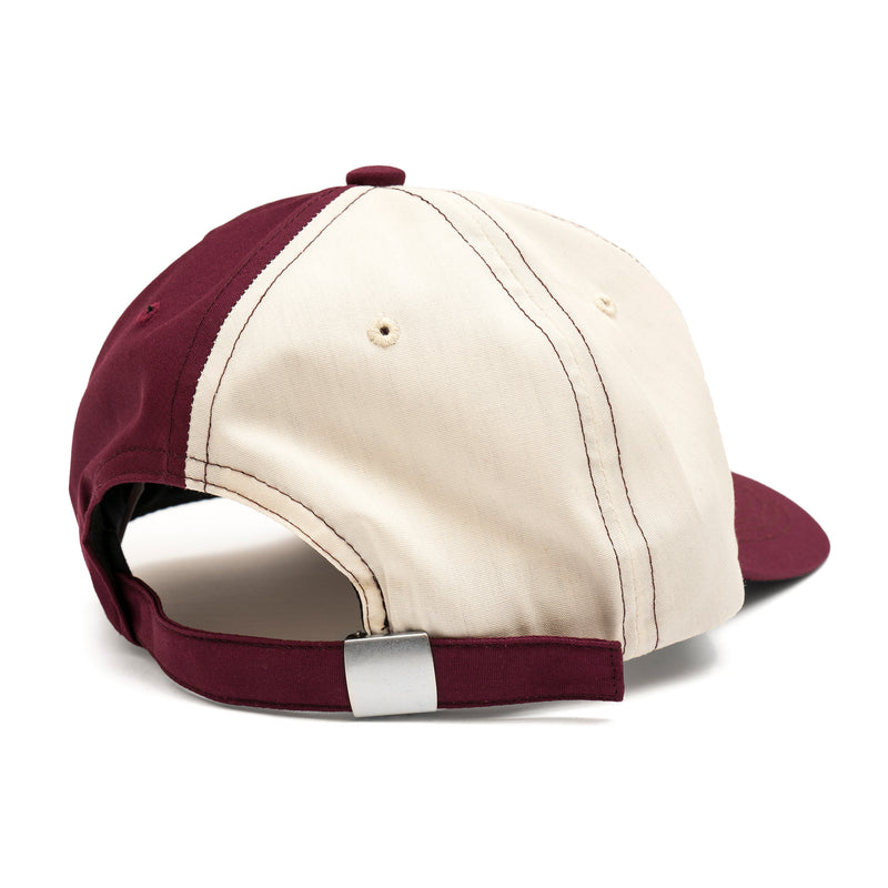 BRONZE TECHNOLOGIES PATCH HAT OYSTER/BURGUNDY