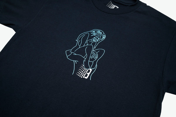 PLEASURE TEE NAVY