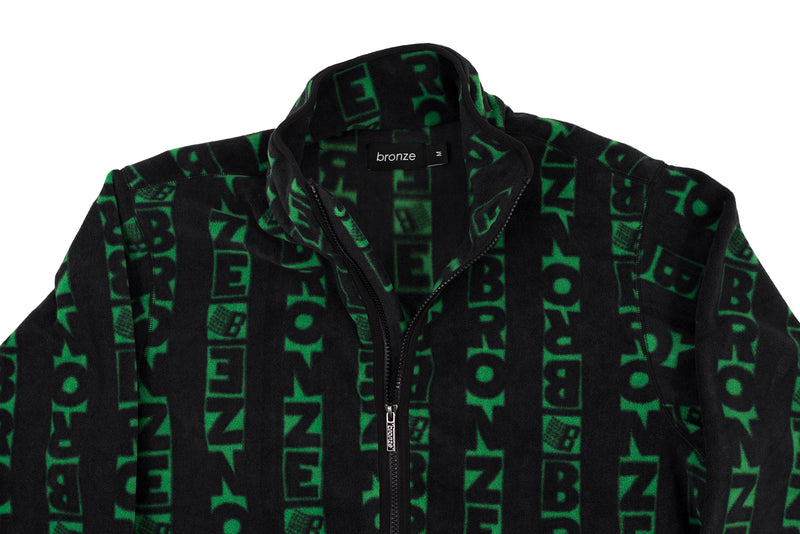 VERT FLEECE BLACK/GREEN