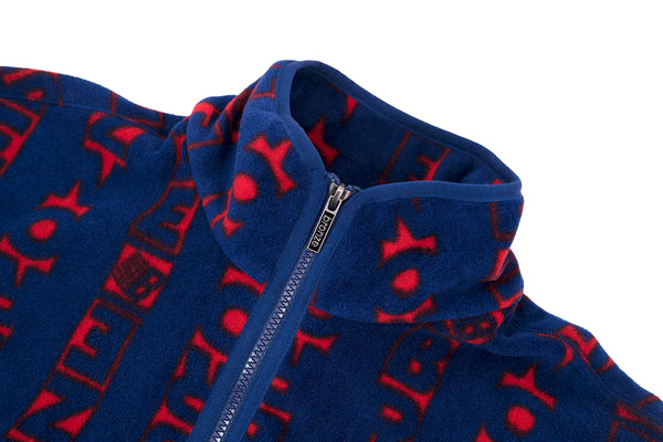 VERT FLEECE NAVY/RED