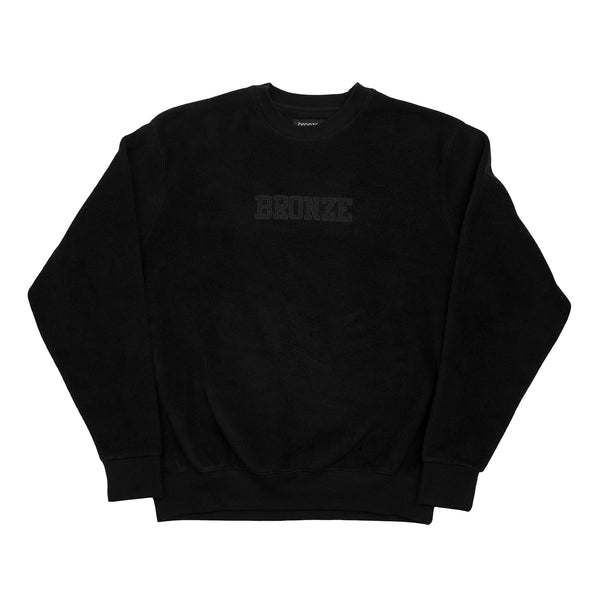 BRONZE FLEECE CREWNECK BLACK