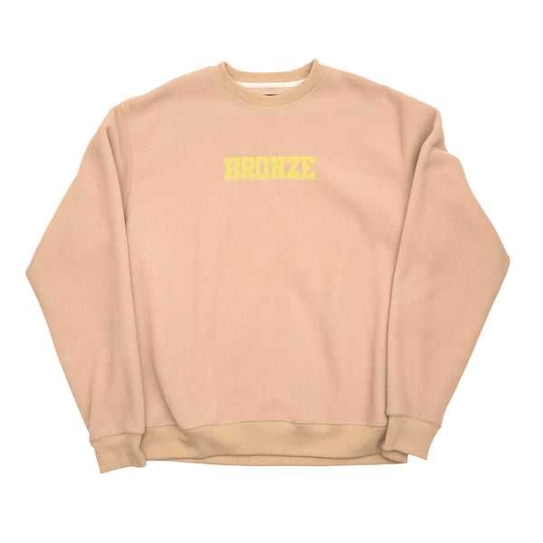 BRONZE FLEECE CREWNECK SAND