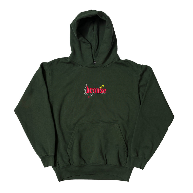 EMBROIDERED SMOKE HOODY GREEN