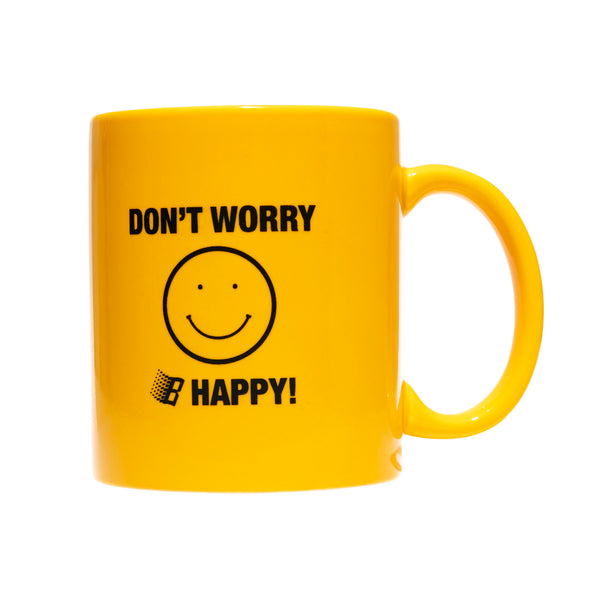 DONT WORRY BE HAPPY MUG YELLOW