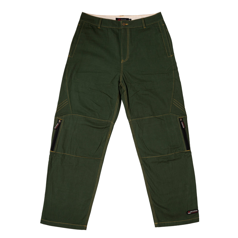 ZIP TECH PANTS GREEN