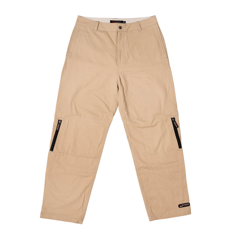 ZIP TECH PANTS STONE KHAKI