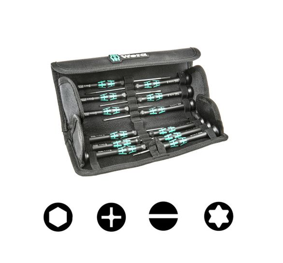 photo 1 of Wera Kraftform Micro Screwdriver Set - 12 Piece Precision Hexagon, Phillips, Slotted, Torx