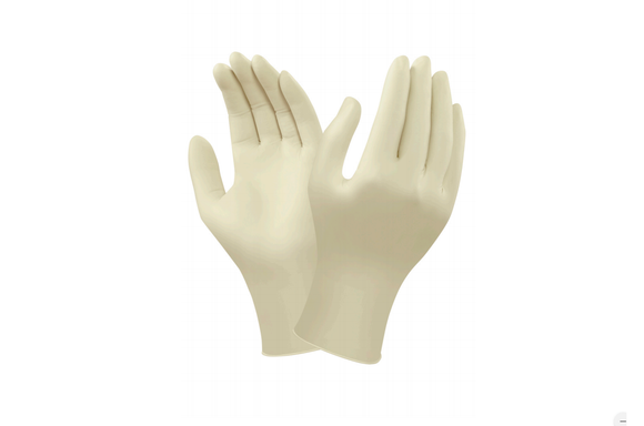 photo of Ansell Natural Latex Gloves Size 7.5 Medium Textured, 100 Powder-Free TouchNTuff® Rubber Latex 69-318