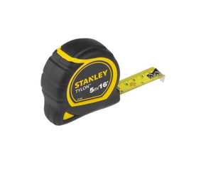 photo 1 of Stanley Tylon 5m Tape Measure, Metric & Imperial 1-30-696, Rubberised Case