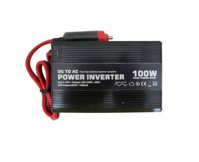 Car Van Power Inverter 12V DC to 230V AC 100W 13A Plug Socket USB Sockets  Output
