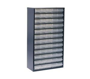 photo of Raaco Blue, Steel 60 Drawer Storage Unit, Full Height Small Parts / Components Storage Cabinet