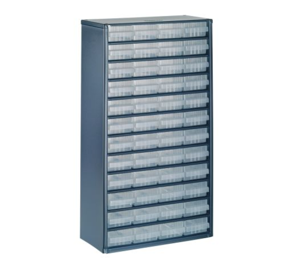 photo of Raaco Blue, Steel 48 Drawer Storage Unit, 552mm x 306mm x 150mm Small Parts / Components Storage Cabinet
