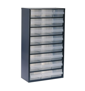 photo of Raaco Blue, Steel 24 Drawer Storage Unit, 552mm x 306mm x 150mm Small Parts / Components Storage Cabinet