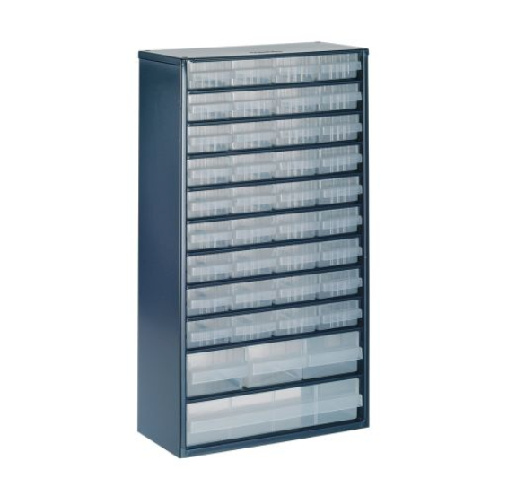 photo of Raaco Blue, Steel 40 Drawer Storage Unit, 552mm x 306mm x 150mm Small Parts / Components Storage Cabinet