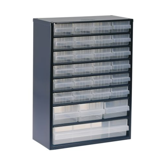 photo of Raaco Blue, Steel 28 Drawer Storage Unit, 417mm x 306mm x 150mm Small Parts / Components Storage Cabinet
