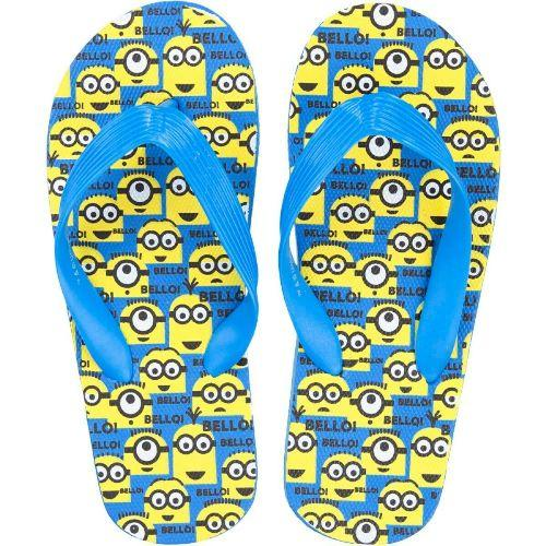 Boys Licensed Minions Flip Flops UK Children Sizes 9-13 Beach Footwear For Kids