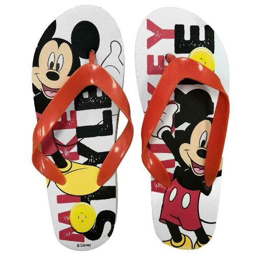 Kids Mickey Mouse White Summer Flip Flops Footwear