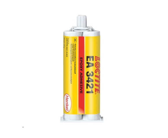 photo of Loctite Hysol 3421 Epoxy Adhesive Transparent Amber Dual Cartridge, 50ml Epoxy Adhesives for Ceramic, Metal, Plastic, Wood 248211