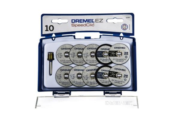 photo of DREMEL® EZ SpeedClic SC690 Miniature Cutting Set, Accessory Kit 2615S690JA, Metal Cutting Wheels & Mandrel 10 Piece Sets