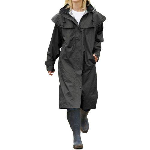 Ladies Isla Full Length Waterproof Long Riding Cape Rain Coat UK Sizes 10 - 24