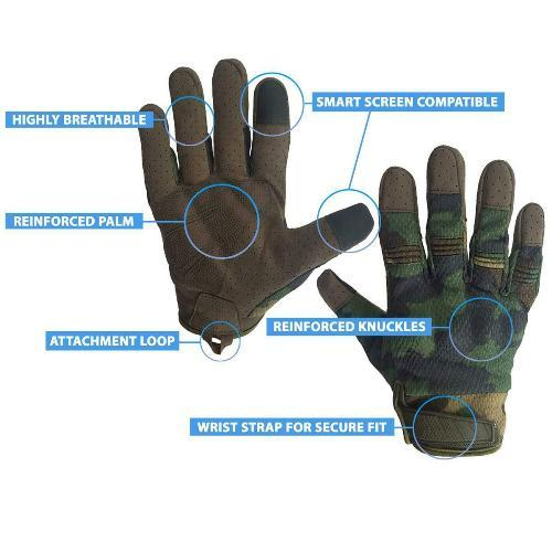 Tactical Woodland Gloves PH03