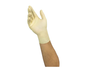 photo of Microflex® Disposable Latex Gloves, 100 Ansell White Latex Gloves Size 9.5 - XL Powder-Free 63-864