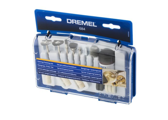 photo 1 of DREMEL® 684 Tool Kit, 20 Piece Tool, Dremel Repair & Polishing Set, Clean Cracks & Crevices in Car Dashboard, Remove Rust, Dirt & Corrosion