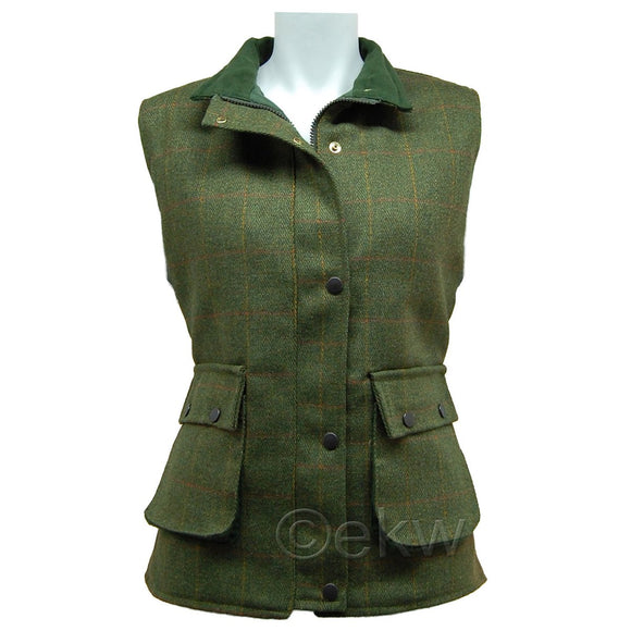 Ladies Game Tweed Waistcoat Gilet Sizes 8 - 18 Womans Shooting Hunting Clothes