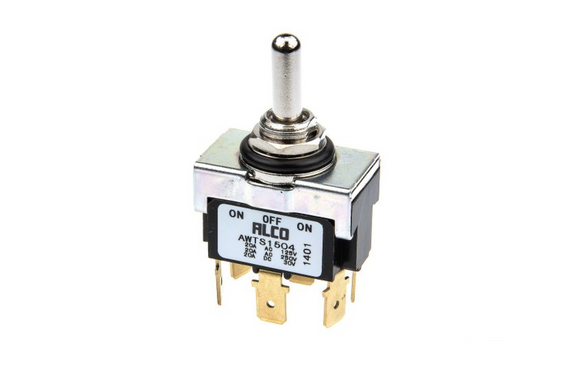photo 1 of TE Waterproof DPDT Toggle Switch IP67, On-Off-On Panel Mount Switches AWTS1504