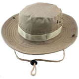 Mens Boonie Bush Hat Military Camo Safari Jungle Hats Chin Strap 6 Colours UK