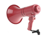 photo 2 of TOA Hand Grip Megaphone 15W Megaphones with Siren in Red