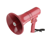 photo 1 of TOA Hand Grip Megaphone 15W Megaphones with Siren in Red