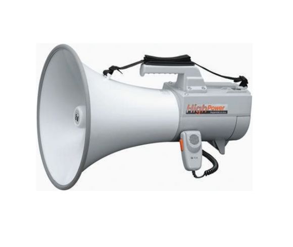 photo of TOA Shoulder Megaphone - 30W Megaphones with Whistle in Grey