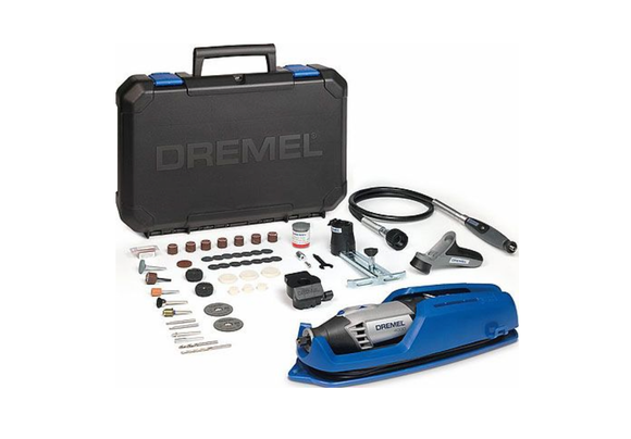 photo 1 of DREMEL® 4000 Multi-Tool Kit F0134000JR,  EZ SpeedClic Twist Nose Cap, 65 x Mini Dremel Starter Set
