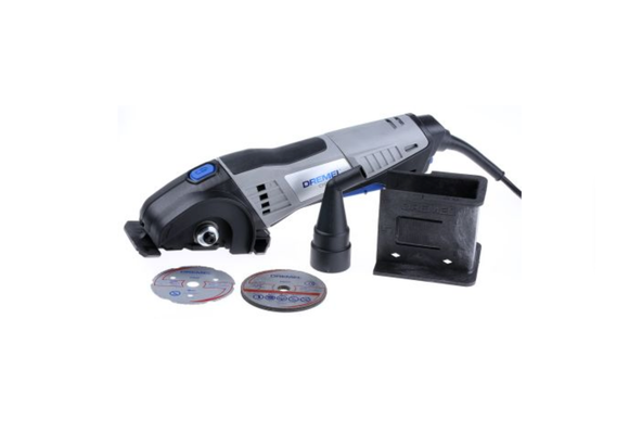 photo 1 of DREMEL® DSM20 Compact Saw, Mini Power Cutter Tool Kit, Various Attachments Cuts Wood, Metal, Tile, Plastic & Masonry