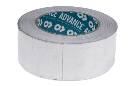 Photo of Advance Tapes AT500 Non-Conductive Aluminium Foil Tape 0.08mm W.50mm L.45m 117611 Acrylic +110°C / -20°C