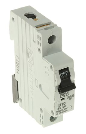 MK Electric 10A 1 Pole Type B Miniature Circuit Breaker Sentry 5910S, EMBH, EUB, S800, 230V