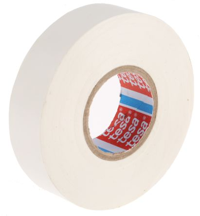 Photo of Tesa Tesaflex 53948 White Electrical Tape 19mm x 25m 53948-00034-07 PVC Rubber 5000V