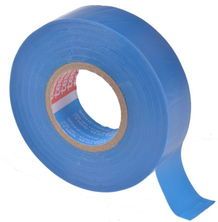 Photo of Tesa Tesaflex 53948 Blue Electrical Tape 19mm x 25m 53948-00035-07 PVC Rubber 5000V