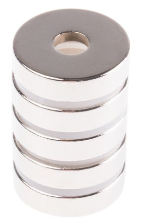 Eclipse Neodymium Magnet Ring Magnets 6mm x 20mm Bag of 5 N844NRS