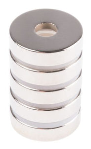 Eclipse Neodymium Magnet Ring Magnets Length 6mm Width 20mm Bag of 5 N844SRS