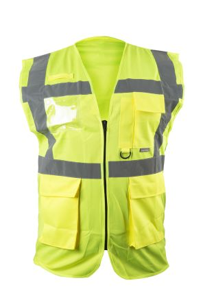 Photo of Unisex Yellow Hi Vis Vest Executive XL Hi-Vis Berlin Vests Waistcoat EN20471 Class 2