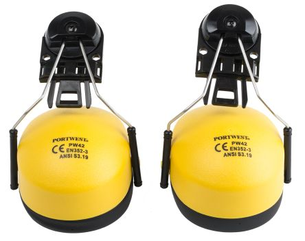 Photo of Ear Defender and Helmet Attachment Ear Protectors Yellow