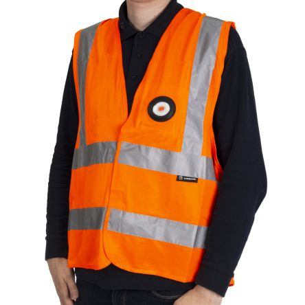 Photo of Unilite Orange Hi-Vis Vest  With USB Recharable LED Light  X Large SV-010XL Safety Waistcoat
