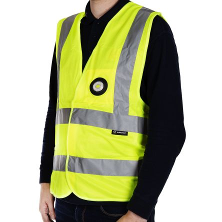 Photo of Unilite Yellow Hi-Vis Vest With USB Recharable LED Light X Large SV-01YXL Safety Waistcoat